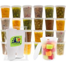[50 set] 32 oz Heavy Duty Deli Food/Soup Plastic Containers w/ Lids - Bulk