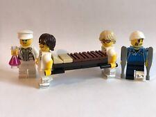 Genuine Lego Piezas solamente-unidad de emergencia de hospitales - 4 Minifiguras-u1