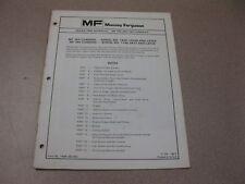 Massey Ferguson MF 750 AND 760 COMBINES Repair Time Schedule