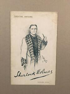 Sherlock Holmes - Programme de théâtre - 1908 - BE