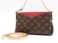 LOUIS VUITTON Pallas Clutch 2way Shoulder Hand Bag Monogram Cerise M41638 B-4752