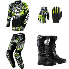 ONeal Element Attack motocross dirt bike gear - Jersey Pants Gloves Boots Combo