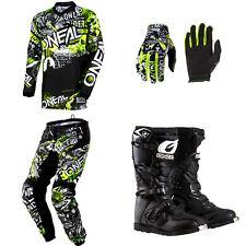 ONeal Element Attack motocross dirt bike gear - Jersey Pants Gloves Boots combo