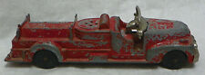 Vintage Hubley Kiddie Toy Diecast Fire Truck Engine firetruck - parts or repair
