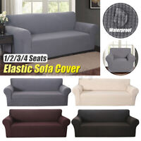 1/2/3/4 Seater Stretch Chair Sofa Covers Couch Cover NEW Slipcover Protector US
