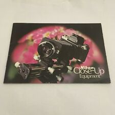 VINTAGE BOOKLET MANUAL FOR NIKON CLOSE-UP EQUIPMENT-FREE SHIPPING