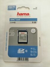Hama 8 GB SDHC Memory Card New Sealed