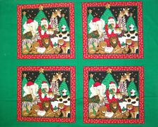 CHRISTMAS PILLOW PANEL - RED