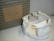 New Avon Angel Pillar Candle Holder Porcelain Circle of Angels 1999