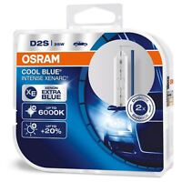 Osram D2S Cool Blue Intense XENARC 6000K HID Xenon Gas Bulbs 66240CBI-HCB Twin