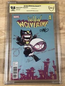All-New Wolverine Annual #1 2016 Skottie Young Variant Spider-Gwen CBCS 9.8