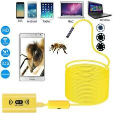 WIFI Endoscope 5M Wireless 8 LED IP68 Borescope Inspection Camera iPhone Android