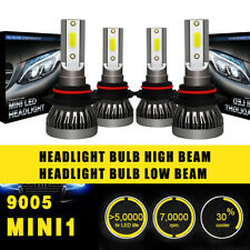 2 Pairs 9005 Headlight Coversion LED Bulb Kit High Beam 97500LM 650W White 6000K
