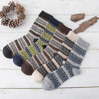 1 Pairs Men Socks 100% Wool Cashmere & Comfortable & Warm Winter Thick Cost Sock