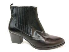 Lucca Piu Paris Womens 9.5 - 10 M EU 40 Leather Ankle Boots Chelsea Black Heels
