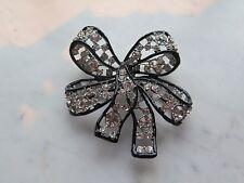Kenneth J Lane Big Swarovski Crystal Bow Brooch Pin
