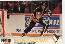 MARIO LEMIEUX 1992-1993 pro set #139 Pittsburgh Penguins