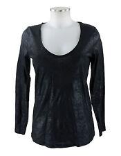 Apriori Shirt 38 schwarz Longshirt Top Baumwolle mit Glanz neu mit Etikett