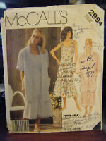 Vintage McCall's 2994 Misses Shirt & Dress Pattern - Size XS Bust 30 1/2-31 1/2