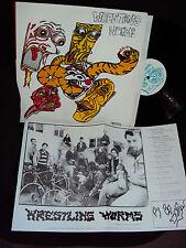 WRESTLING WORMS SELF TITLED 1988 VINYL LP w/POSTER/LYRICS VGG++ RARE ALBUM!