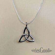 pendentif celtique elfique gothique triquetra sur collier snake