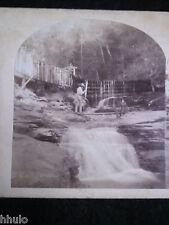 STA311 Cascade Kauterskill River USA albumen vintage Photo 1900 STEREOview