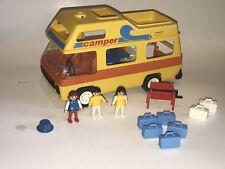 PLAYMOBIL 3148 CAMPER Yellow 1990s Caravan Playset Camping RV Motorhome HTF