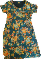 New OILILY WOMENS BLUE FLORAL KNEE LENGTH short sleeve Dress Size 42 12