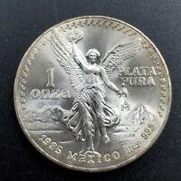 1985 Mo 1 oz Onza Mexico Libertad CH BU UNC Ley .999 Plata Pura Fat Dimension