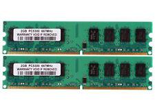New 4GB 2X 2GB DDR2 PC2-5300U 667MHz 240PIN CL5 DIMM intel RAM Desktop memory