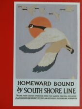 POSTCARD HOMEWARD BOUND BY SOUTH SHORE LINE - CHICAGO-ILLINOIS