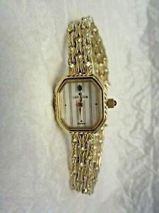 Vintage Lady Elgin Gold Tone Ladies Watch Safety Chain #KL004CA Bracelet
