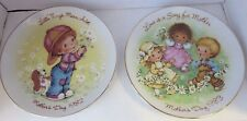 Avon Mother's Day Collector Plates 1982 and 1983