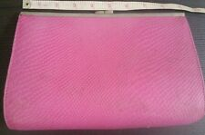 Pink faux snakeskin French connection handbag