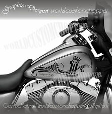 ADESIVI DECAL STICKER GRAFICHE PER SERBATOI HARLEY DAVIDSON SOFTAIL & TOURING