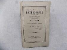 Quid LYBYCAE GEOGRAPHIAE Hanc Thesim 1859 Géographie LYBIE Joseph Michon