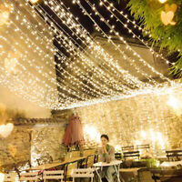 2m 60 LED Curtain Fairy Hanging String Lights Christmas Wedding Party Home Decor