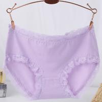 Women Soft Cotton Underpants Lace Up Lingerie Briefs Hipster Underwear Panties