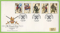 G.B. 1983 British Army set on Royal Mail First Day Cover, Aldershot