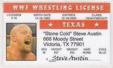 Stone Cold Steve Austin Wrestling wwf  3:16  Victoria Texas TX Drivers License