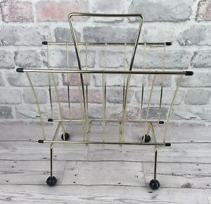 Vintage Wire  Magazine Rack With Sputnik Legs 1960s To 1970s Good Condition