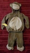 Old Navy Toddler Halloween 2 Piece Plush Monkey Costume 12-24 Months Banana Tail