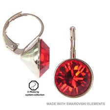 10mm Orecchini con elementi Swarovski, Colore: Siam Chiaro