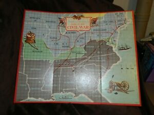 1961 Milton Bradley Battlecry Replacement Game Board ONLY