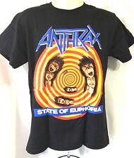 ANTHRAX State Of Euphoria Official T-Shirt(S)Original 2011 New Genuine Merch 09E