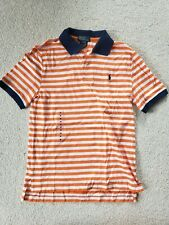 Polo Ralph Lauren Boys Cotton Orange Stripe Polo Shirt Size: M(10-12) BRAND NEW