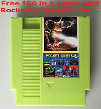 150in1 game card Rockman123456 NinjaTurtles Kirby's Adventure for NES Console