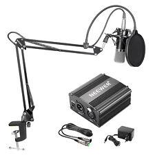 Neewer NW-700 Kit de Microphone à Condensateur avec 48V Alimentation Fantôme