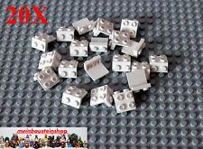 20X Lego® 92411 Winkel-Platte, Konverter, Halter, Angle, 1X2-2X2 Weiß, White NEU