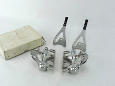 Sugino Aero Mighty Pedal Set With Toe Clips Vintage track & road Bicycle 75 NOS